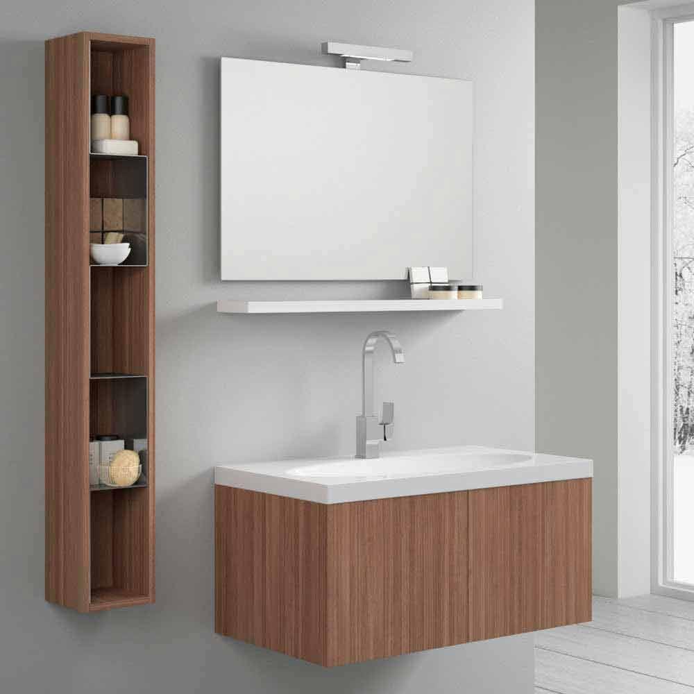 Zusammensetzung Bad Hänge Togo Holz - Badezimmermöbel Set ...