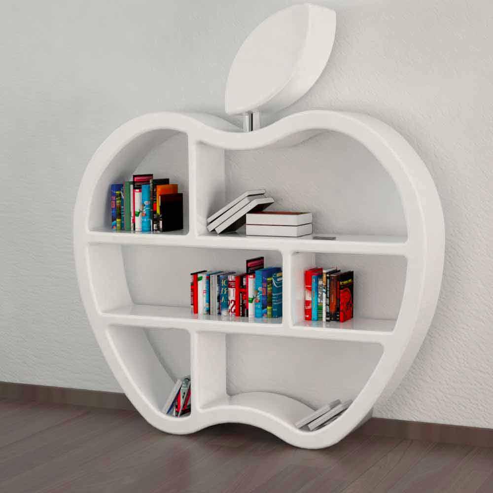 Bücherregale Modern bücherregal modern rot weiß oder grau gluttony