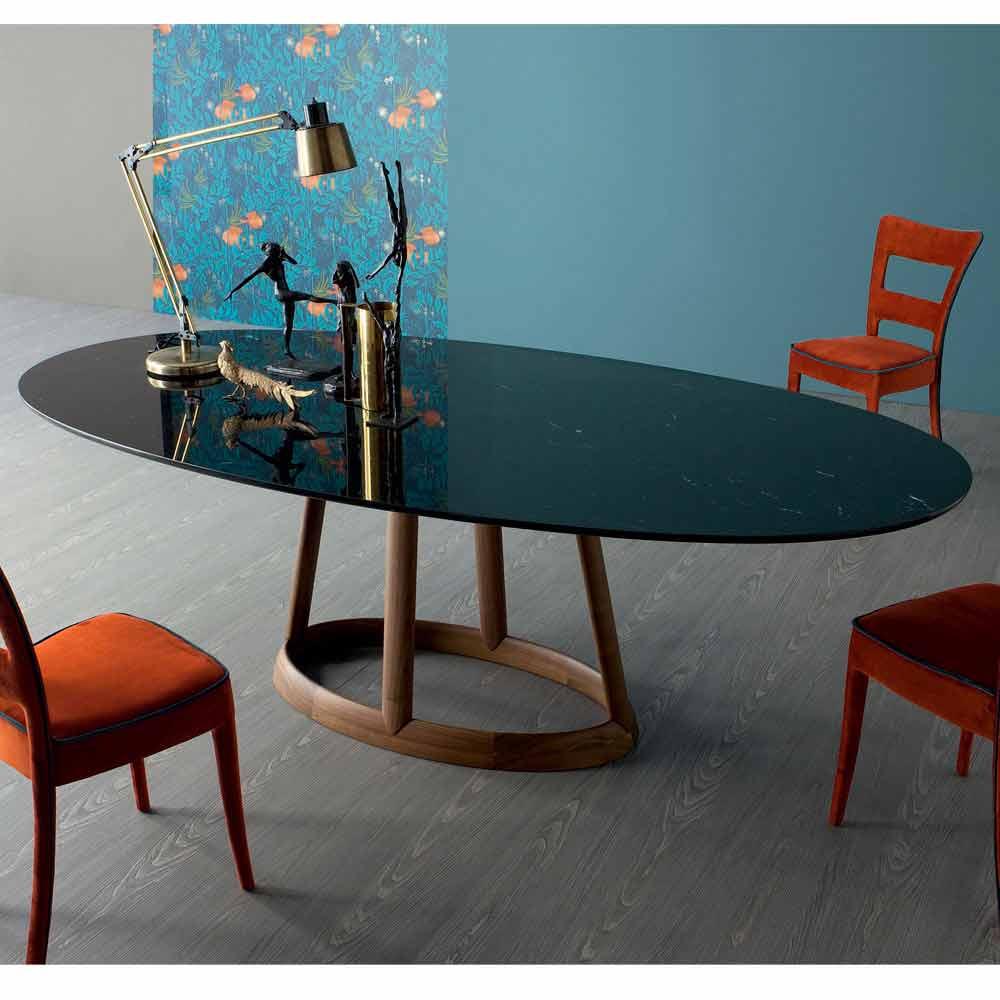 Bonaldo greeny ovaler tisch aus marquinia marmor design made in italy - Ovale wandregale ...