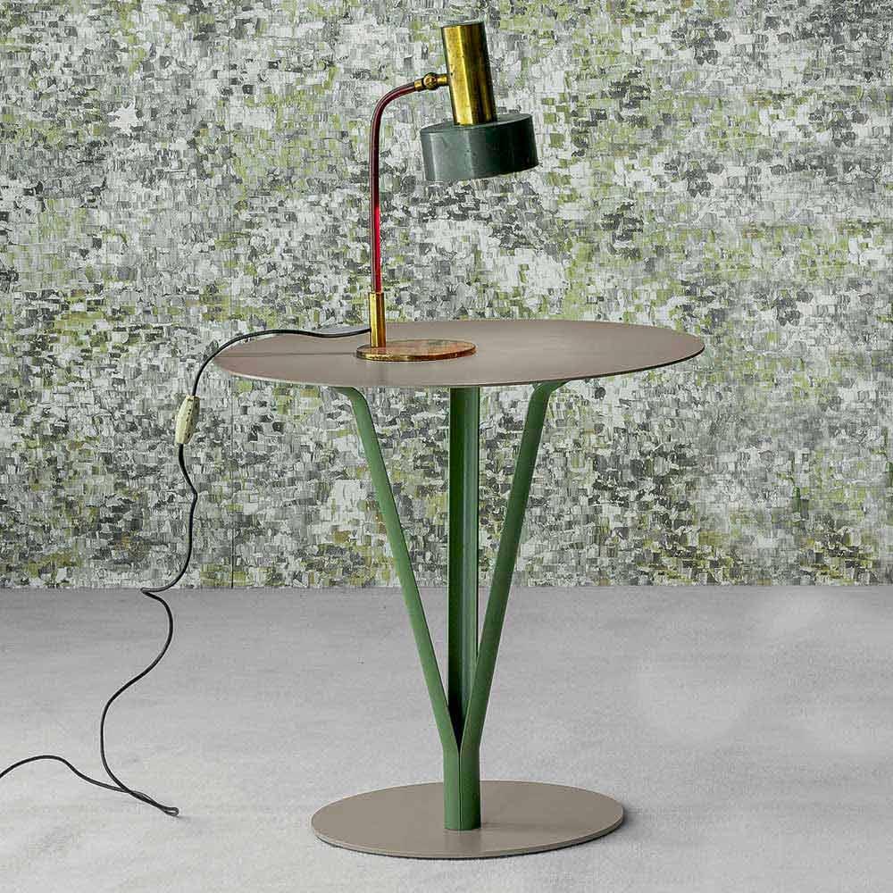 Bonaldo kadou design tisch aus lackiertem stahl d50cm made for Design tisch stahl