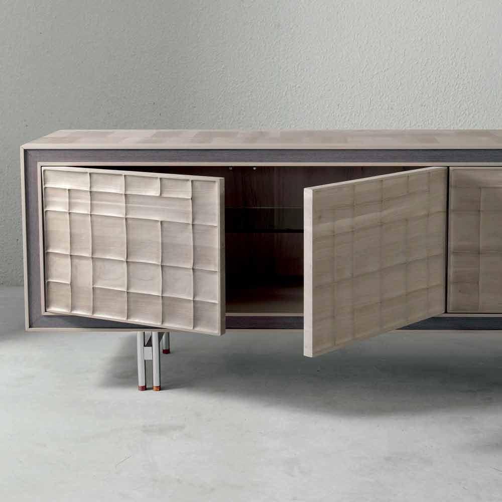 Moderne 3 t rige anrichte aus massivholz design anna - Moderne anrichte ...