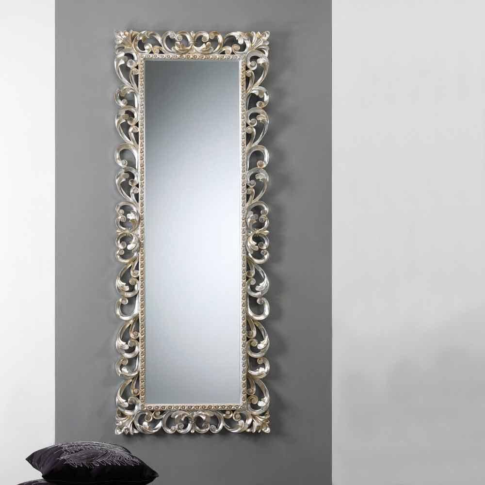 vertikaler reprospiegel mit verzierten spiegelrahmen paris. Black Bedroom Furniture Sets. Home Design Ideas