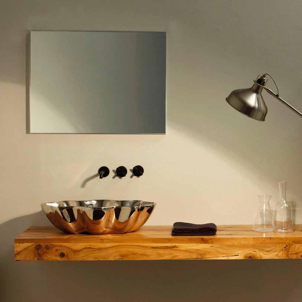 aufsatzwaschbecken in modernem design aus keramik made in italy cubo. Black Bedroom Furniture Sets. Home Design Ideas