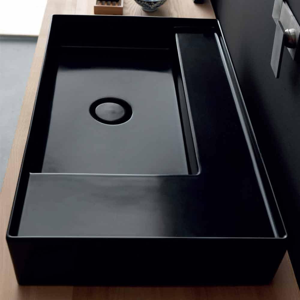 Keramik Aufsatzwaschbecken schwarz Icon von Alice Ceramica