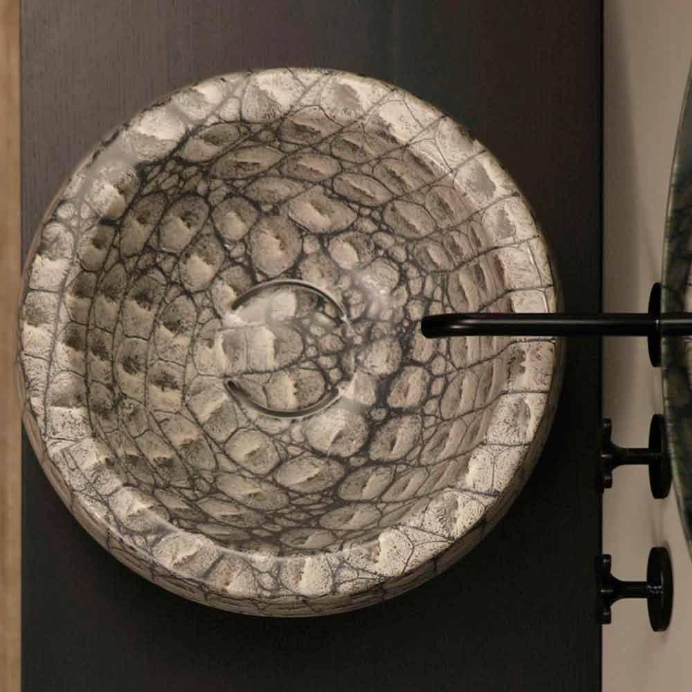 rundes aufsatzwaschbecken keramik kaiman design made in. Black Bedroom Furniture Sets. Home Design Ideas