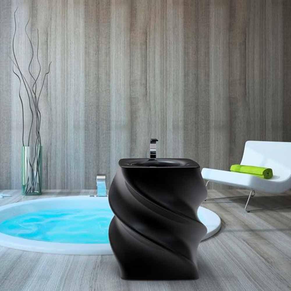 freistehendes waschbecken schwarz in modernem design twist made in italy. Black Bedroom Furniture Sets. Home Design Ideas
