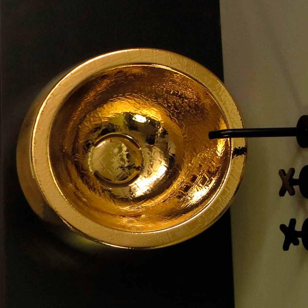 rundes aufsatzwaschbecken aus keramik gold design made in. Black Bedroom Furniture Sets. Home Design Ideas