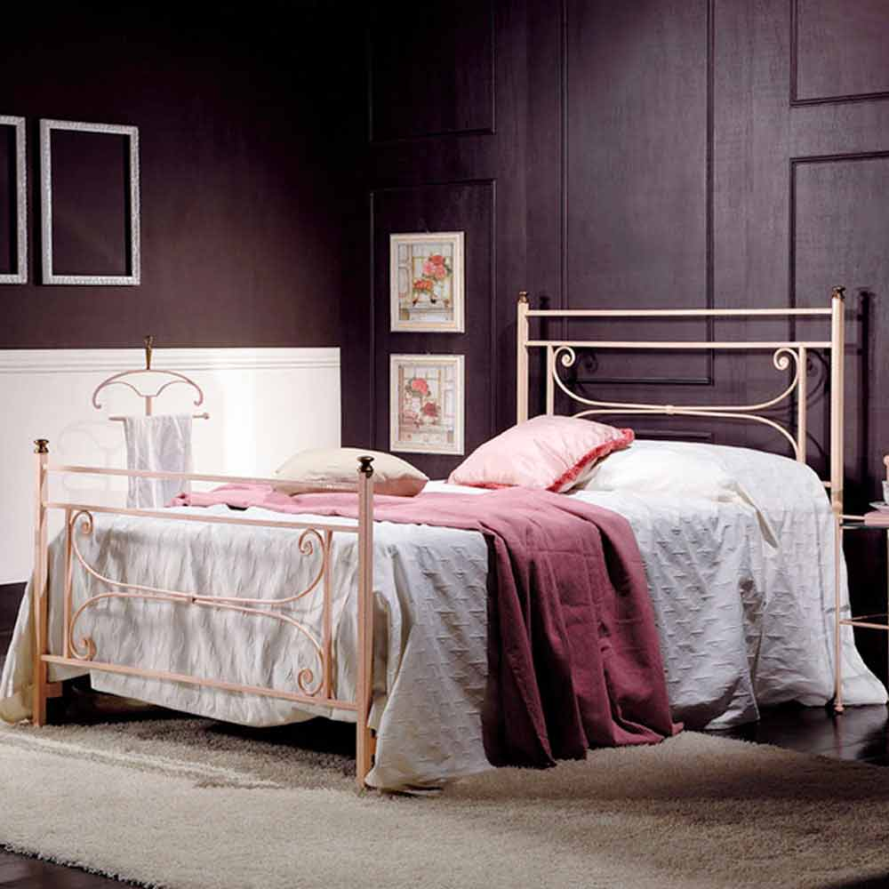 bett 120x190 cm aus schmiedeeisen claudia made in italy. Black Bedroom Furniture Sets. Home Design Ideas