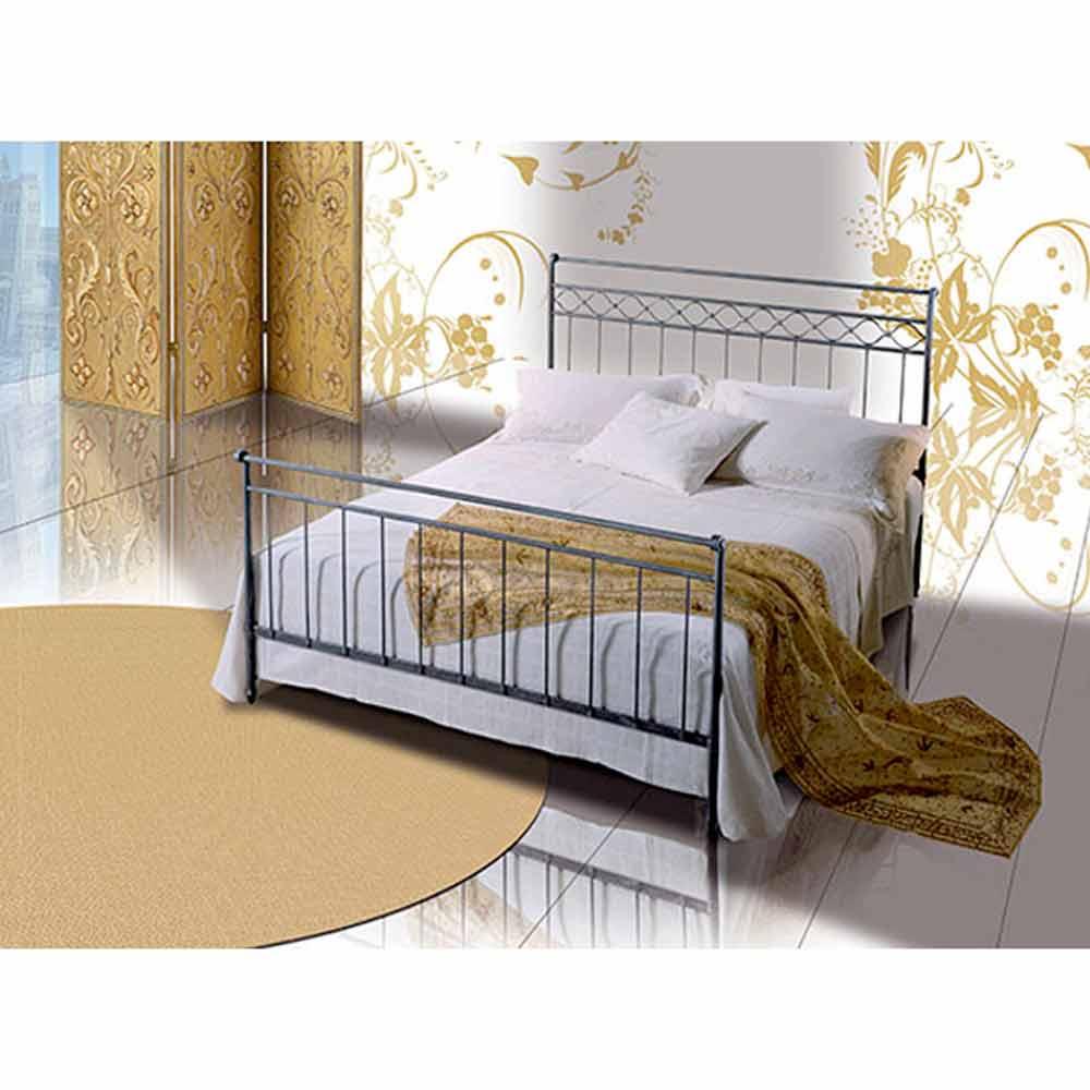 Efesto Jugend Queen Size Bett aus Schmiedeeisen
