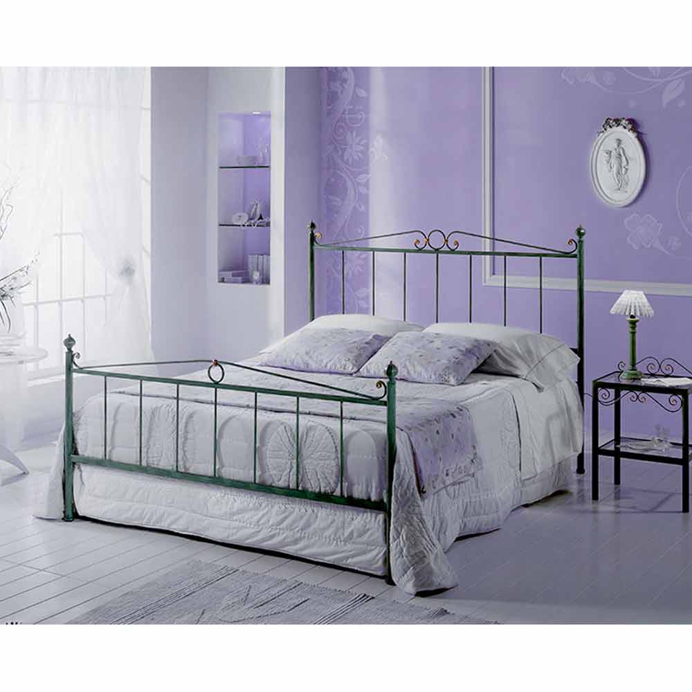 jugend queen size bett aus schmiedeeisen fauno. Black Bedroom Furniture Sets. Home Design Ideas