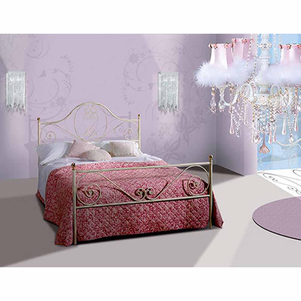 gea jugend queen size bett aus schmiedeeisen. Black Bedroom Furniture Sets. Home Design Ideas