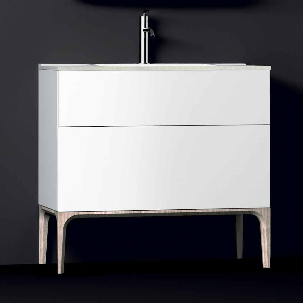 Badezimmerschrank mit integriertem modernen waschbecken for Badezimmerschrank mit waschbecken