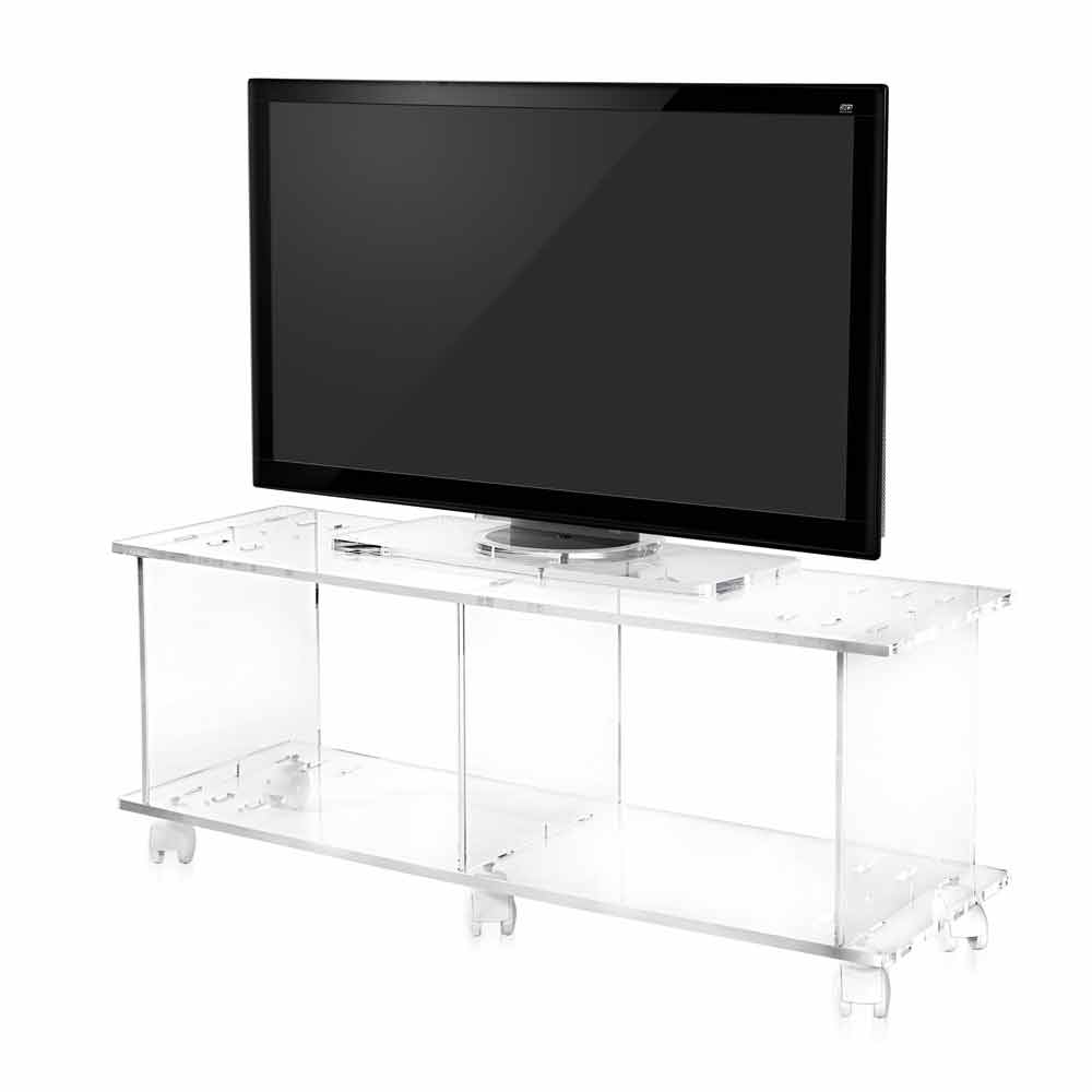 tv schrank im modernen design aus transparentem plexiglas mago. Black Bedroom Furniture Sets. Home Design Ideas