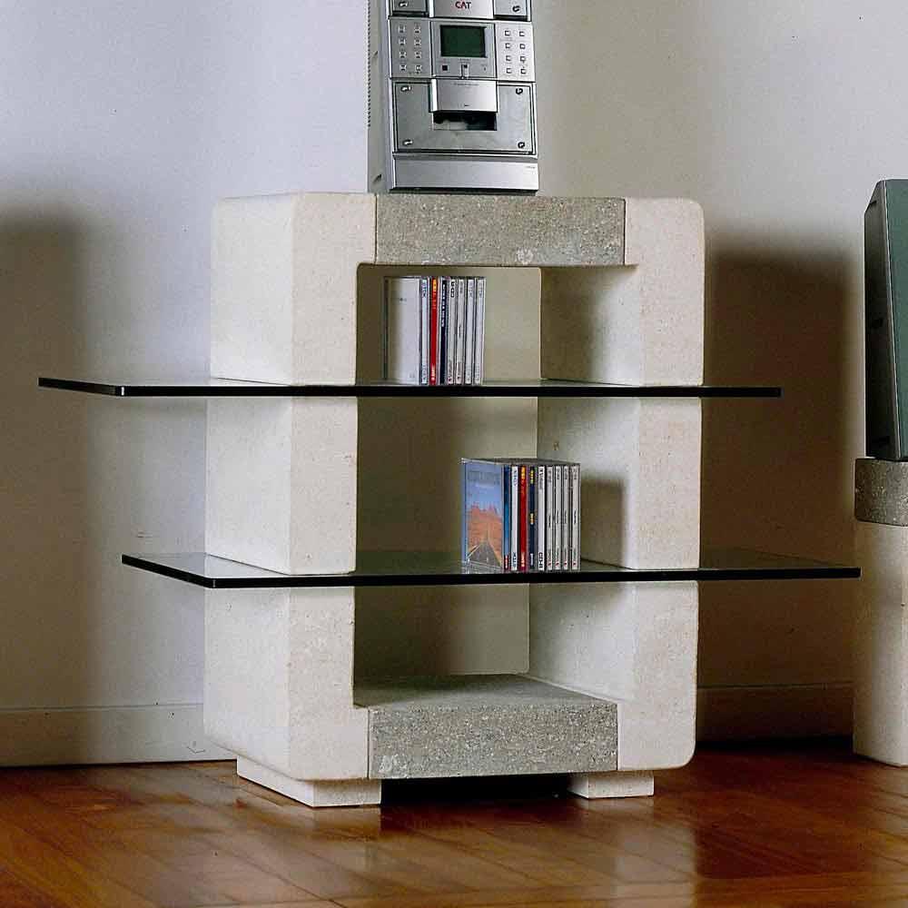 TV-Hifi-Möbel aus Stein und Kristall in modernem Design Xeni