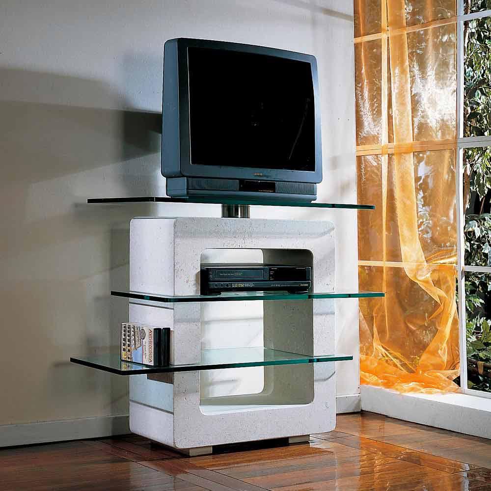 tv m bel aus stein und kristall in modernem design agnes. Black Bedroom Furniture Sets. Home Design Ideas