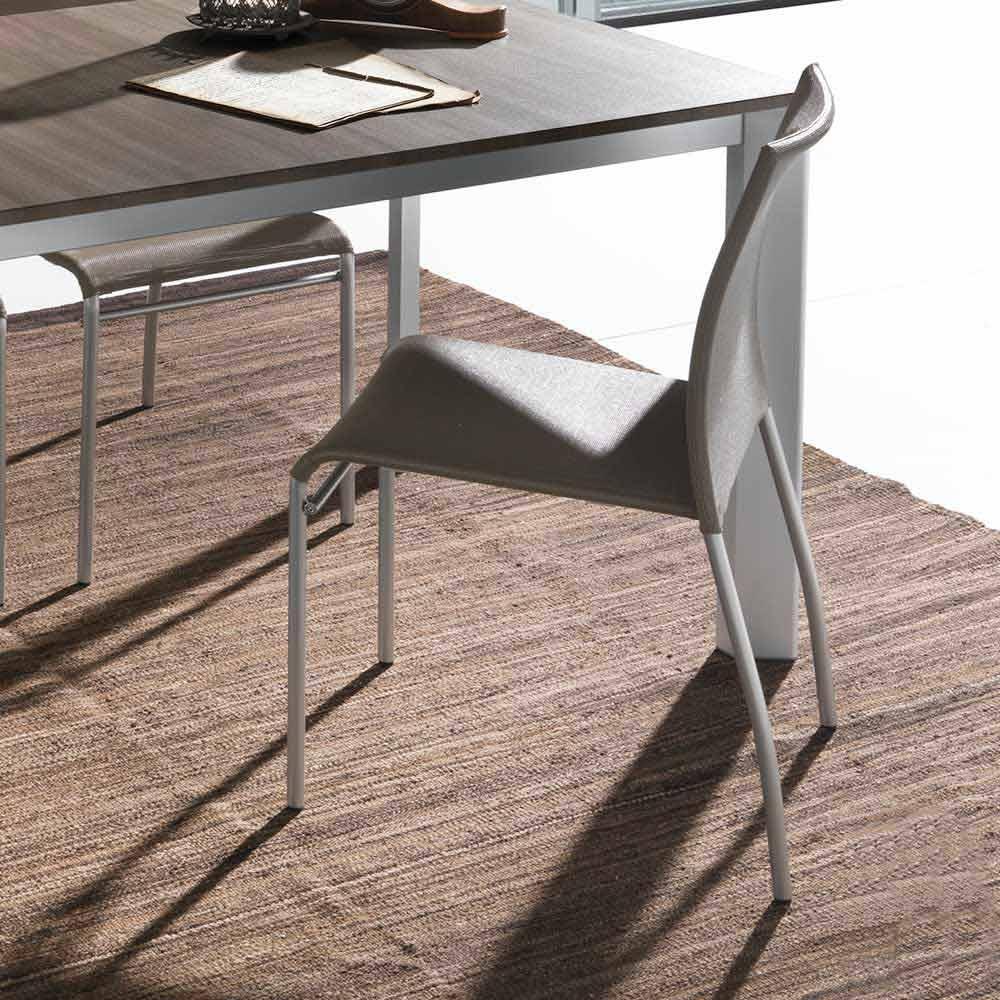 Stuhl aus metall in modernem design robyn for Design stuhl metall