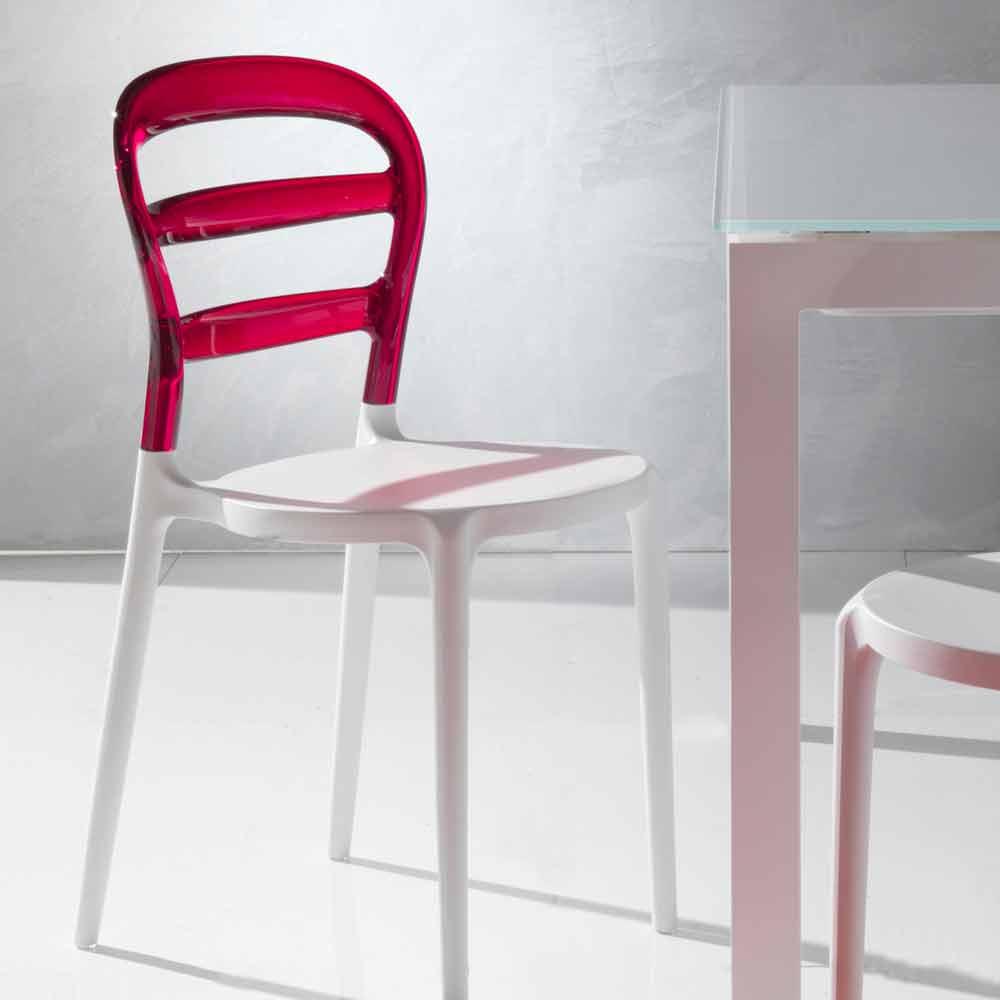 stuhl mit sitzlehne aus polycarbonat modica. Black Bedroom Furniture Sets. Home Design Ideas