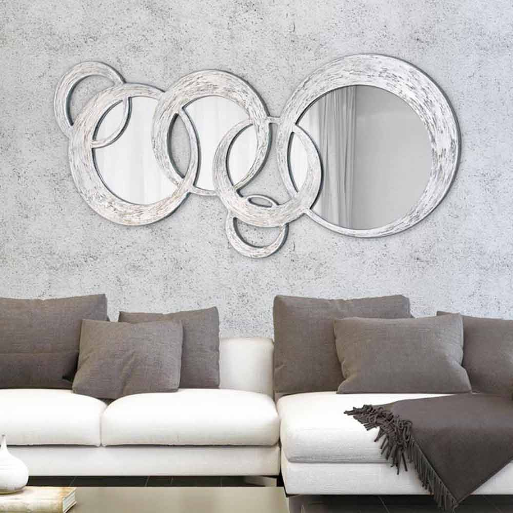 Wandspiegel in modernem design circles von viadurini decor - Wandspiegel design ...