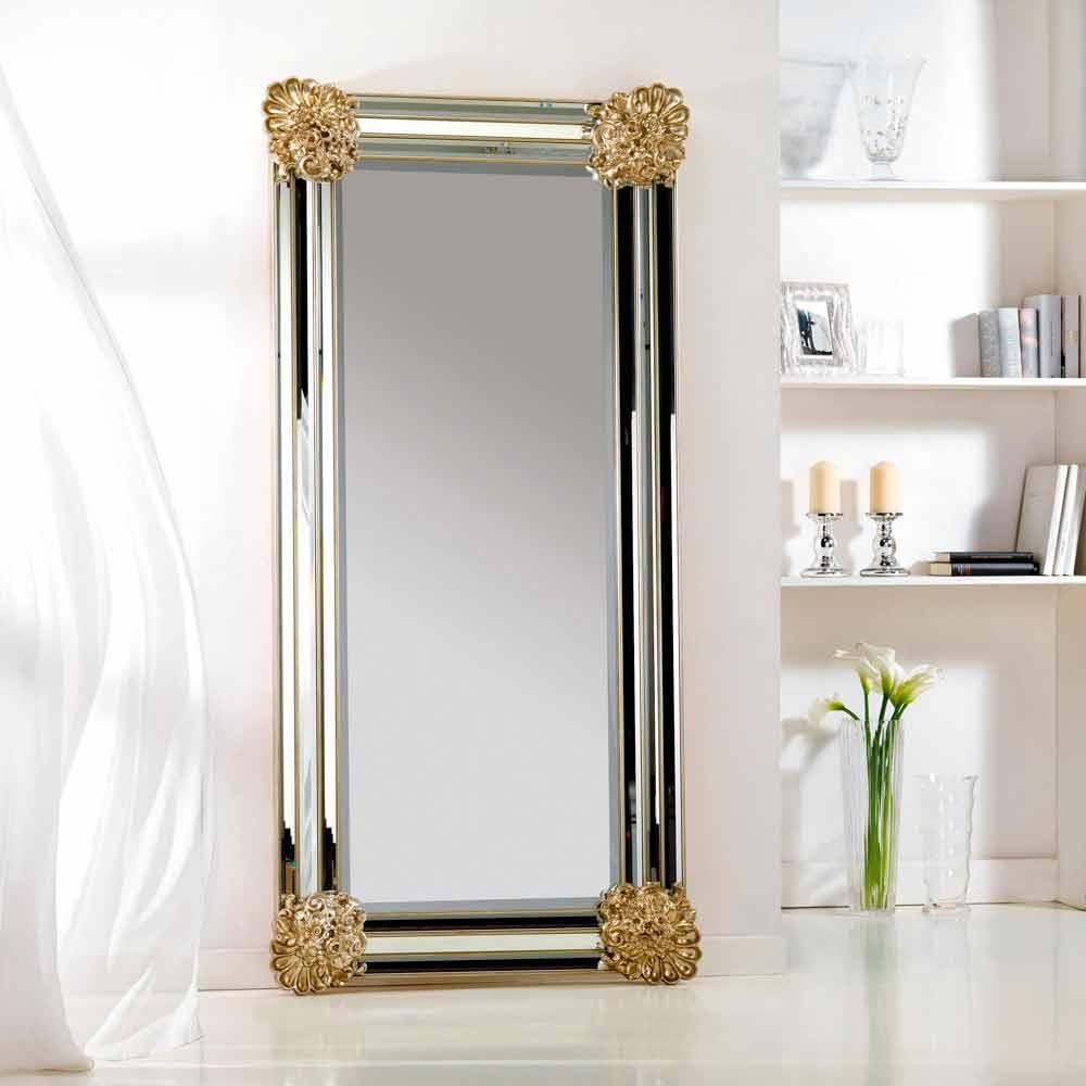 Moderner wand und standspiegel mit rahmen 96x196 cm - Spiegel mit spiegelrahmen ...