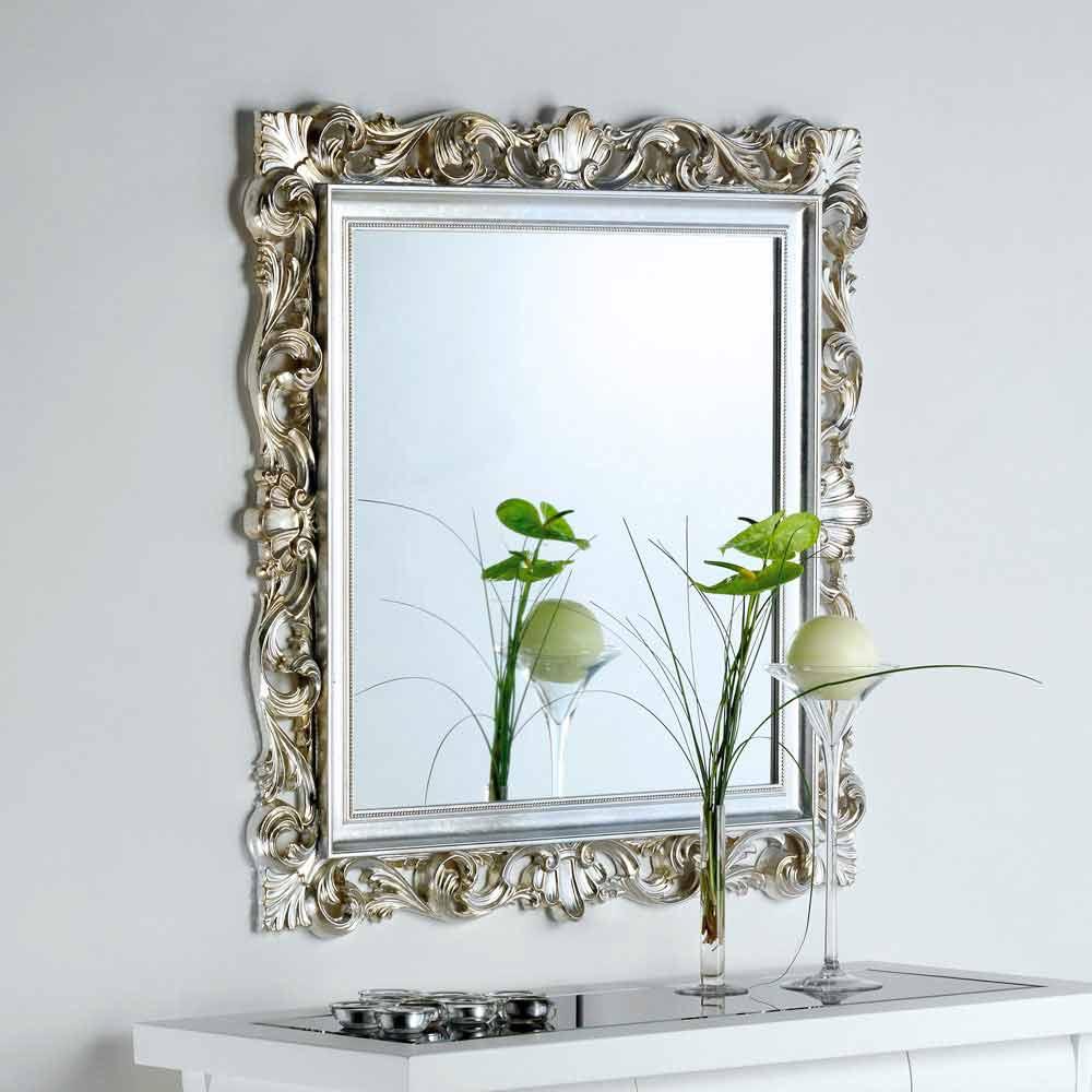 wandspiegel mit ornamentreichen spiegelrahmen 98x98 marsy. Black Bedroom Furniture Sets. Home Design Ideas