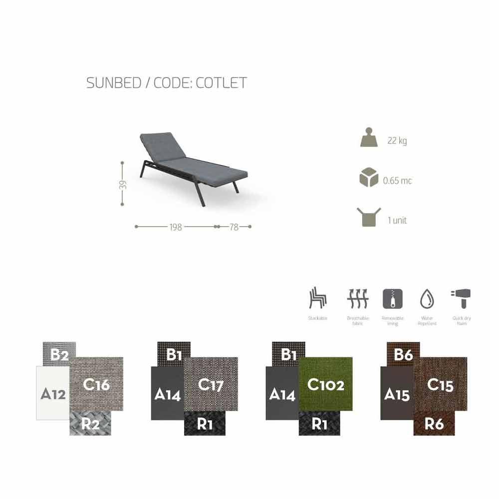 talenti cottage garten sonnenliege in design aus gewebe. Black Bedroom Furniture Sets. Home Design Ideas