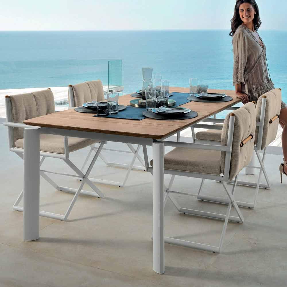 talenti domino gartentisch ausziehbarer 160 215cm made in italy. Black Bedroom Furniture Sets. Home Design Ideas