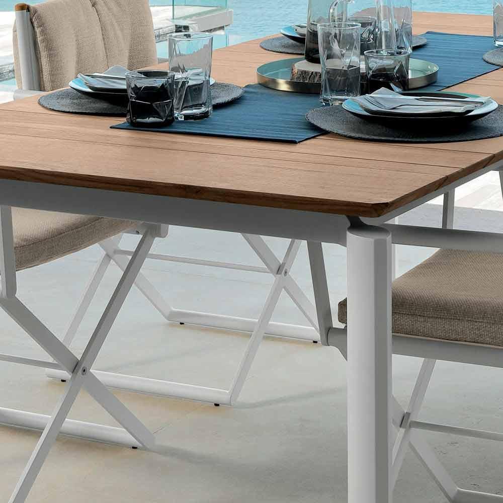 talenti domino gartentisch ausziehbarer 200 260cm made in italy. Black Bedroom Furniture Sets. Home Design Ideas