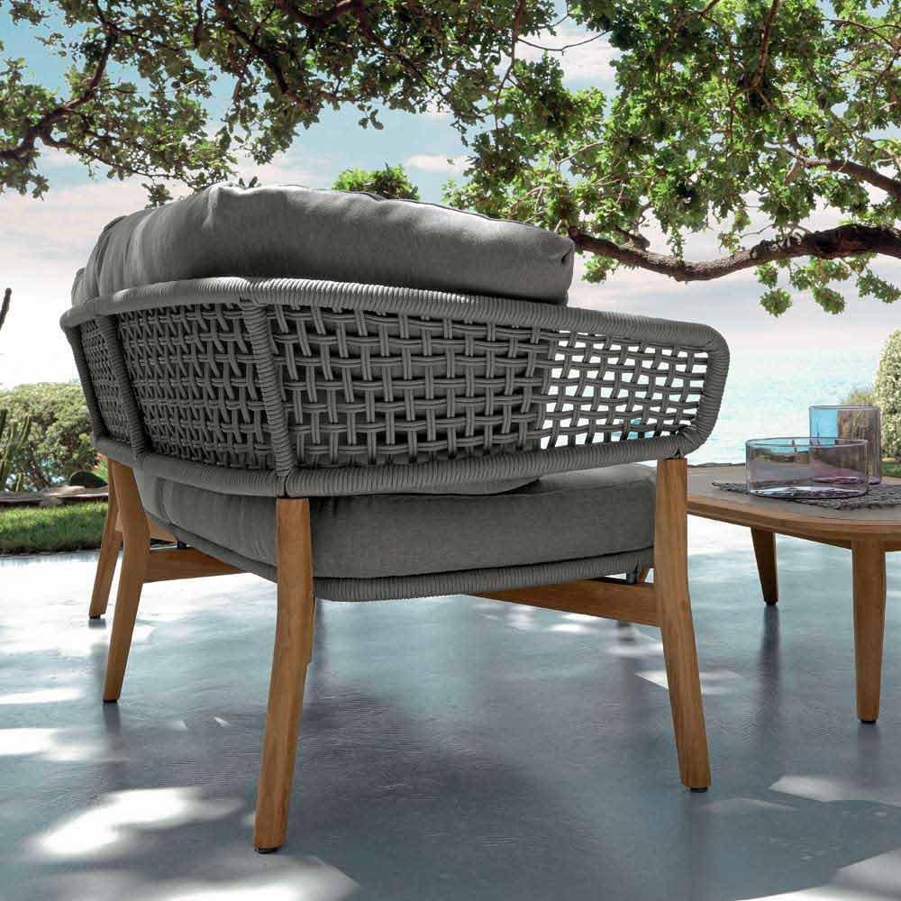 talenti moon gartensofa in modernem design aus teak made in italy. Black Bedroom Furniture Sets. Home Design Ideas