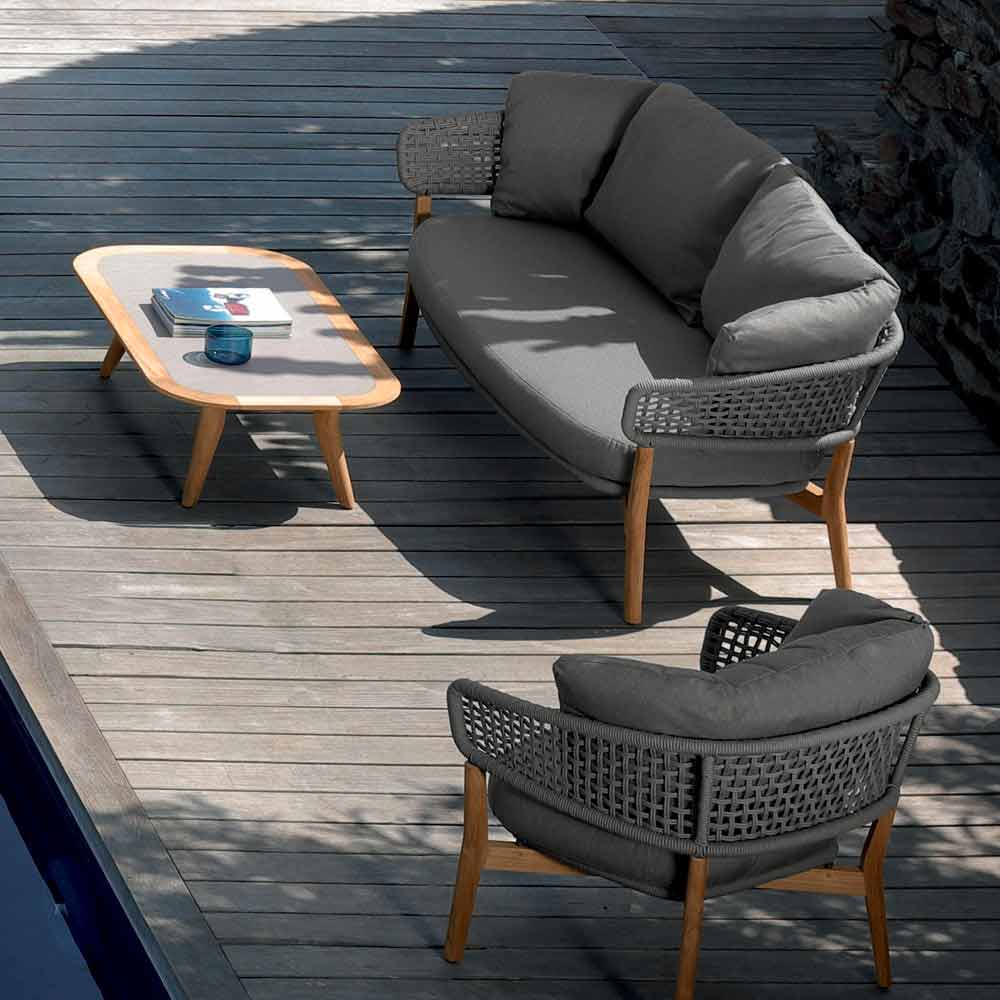 Talenti moon gartensofa in modernem design aus teak made in italy - Gartensofa design ...