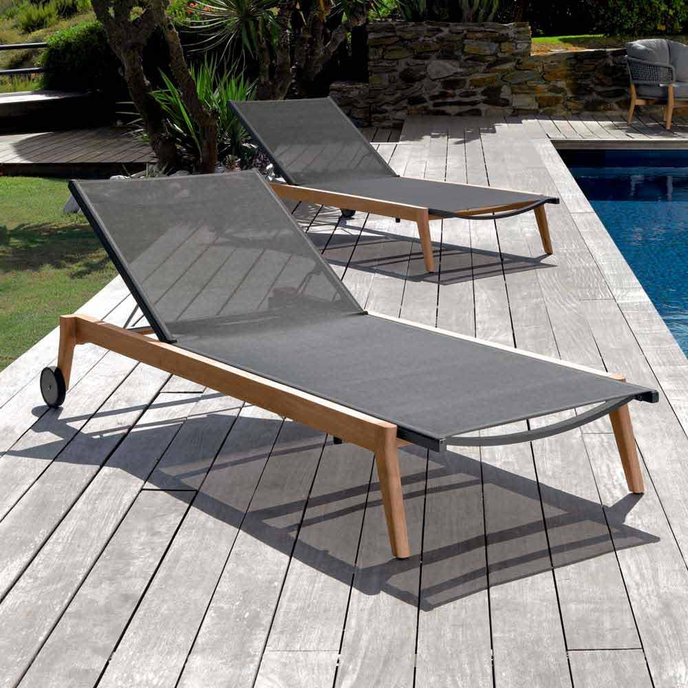 talenti moon garten sonnenliege aus gewebe in design made in italy. Black Bedroom Furniture Sets. Home Design Ideas