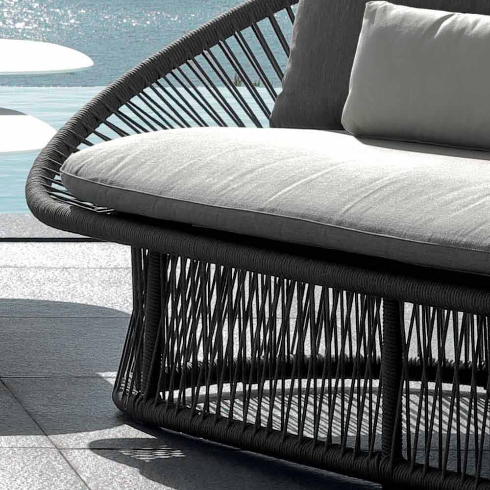 talenti rope gartensofa struktur aus aluminium made in italy. Black Bedroom Furniture Sets. Home Design Ideas