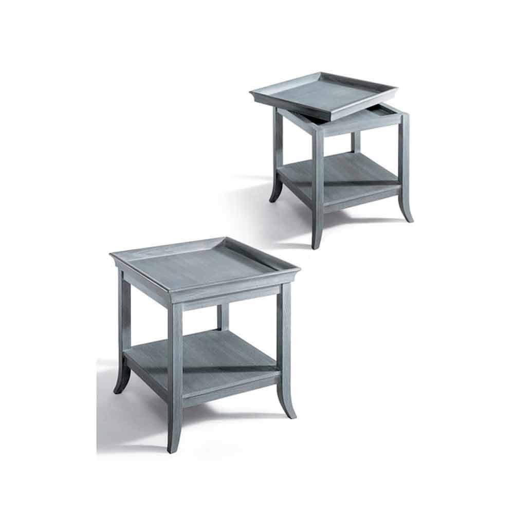 Couchtisch aus lackiertem grauem holz 60x60 cm design marcus for Couchtisch 60x60
