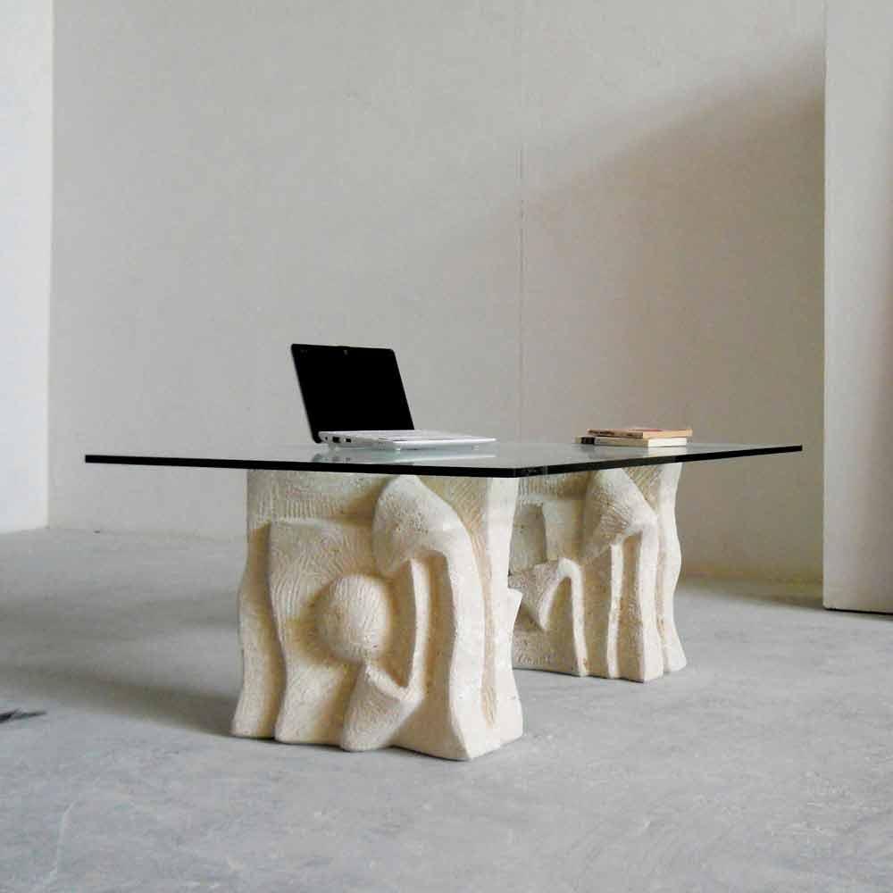 Couchtisch Aus Stein Und Kristall In Modernem Design Priamo S