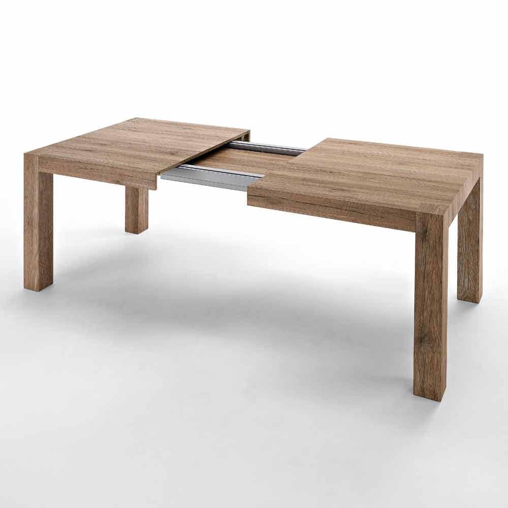 ausziehbarer bis 300cm tisch aus melamin oky in modernem. Black Bedroom Furniture Sets. Home Design Ideas