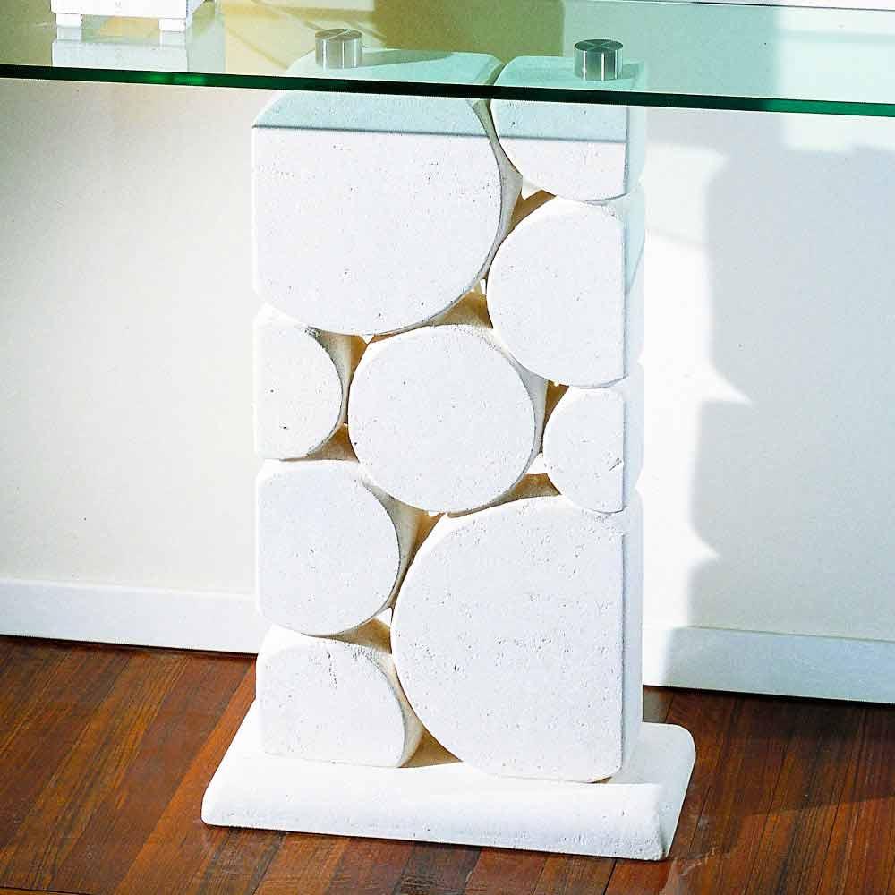 ... Konsolentisch Aus Stein Und Glas Modernes Design Hosios ...