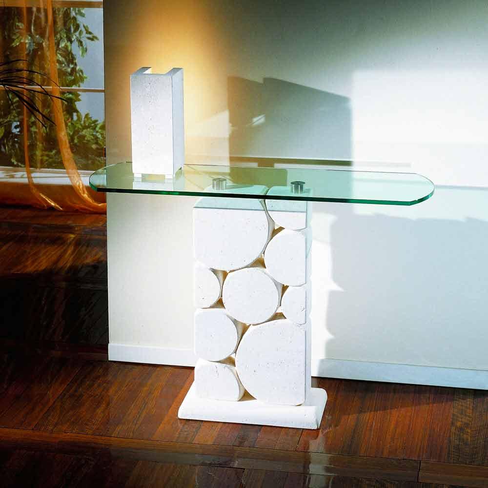 Konsolentisch Aus Stein Und Glas Modernes Design Hosios