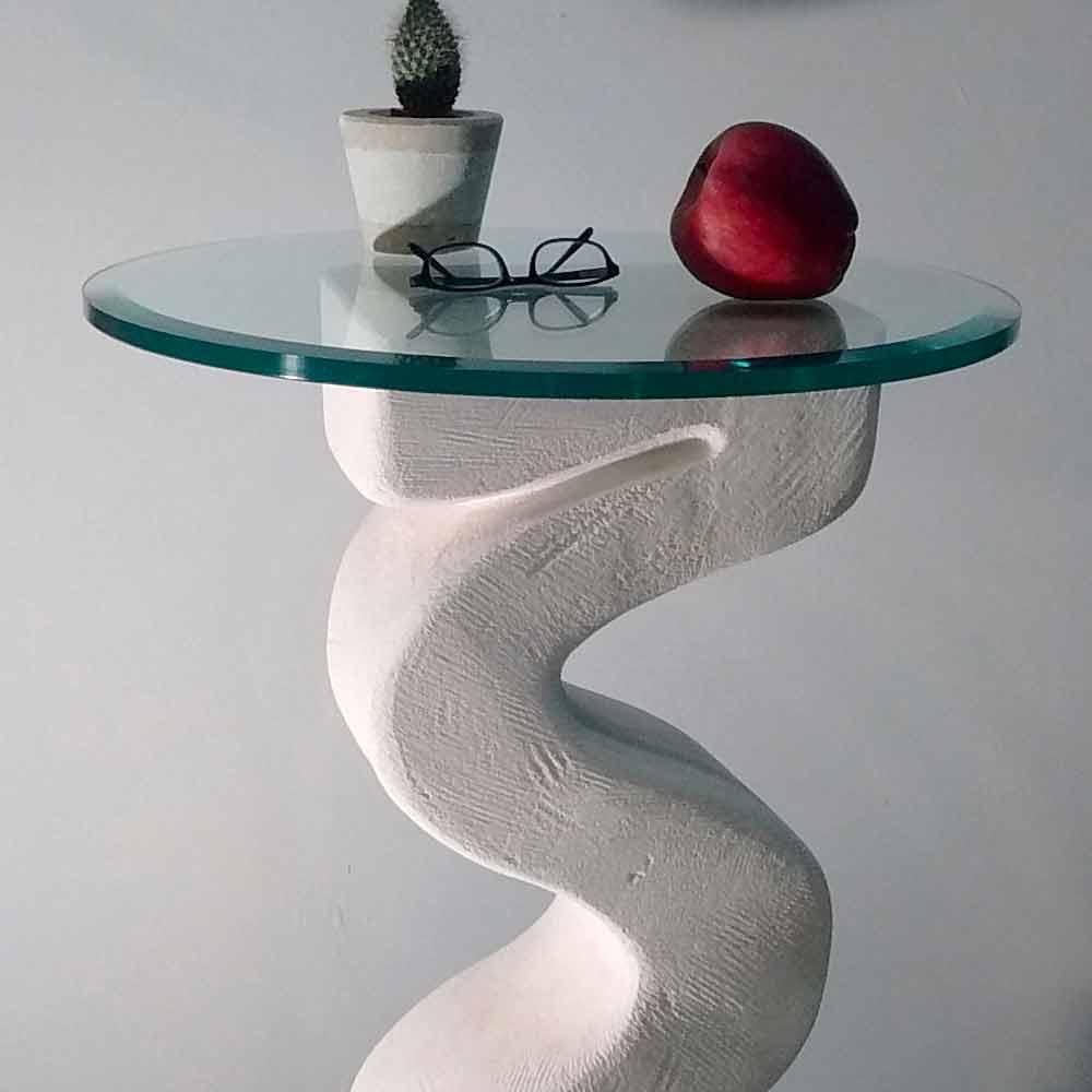 ... Rundkonsolentisch Aus Stein Und Kristall Design Babylas ...