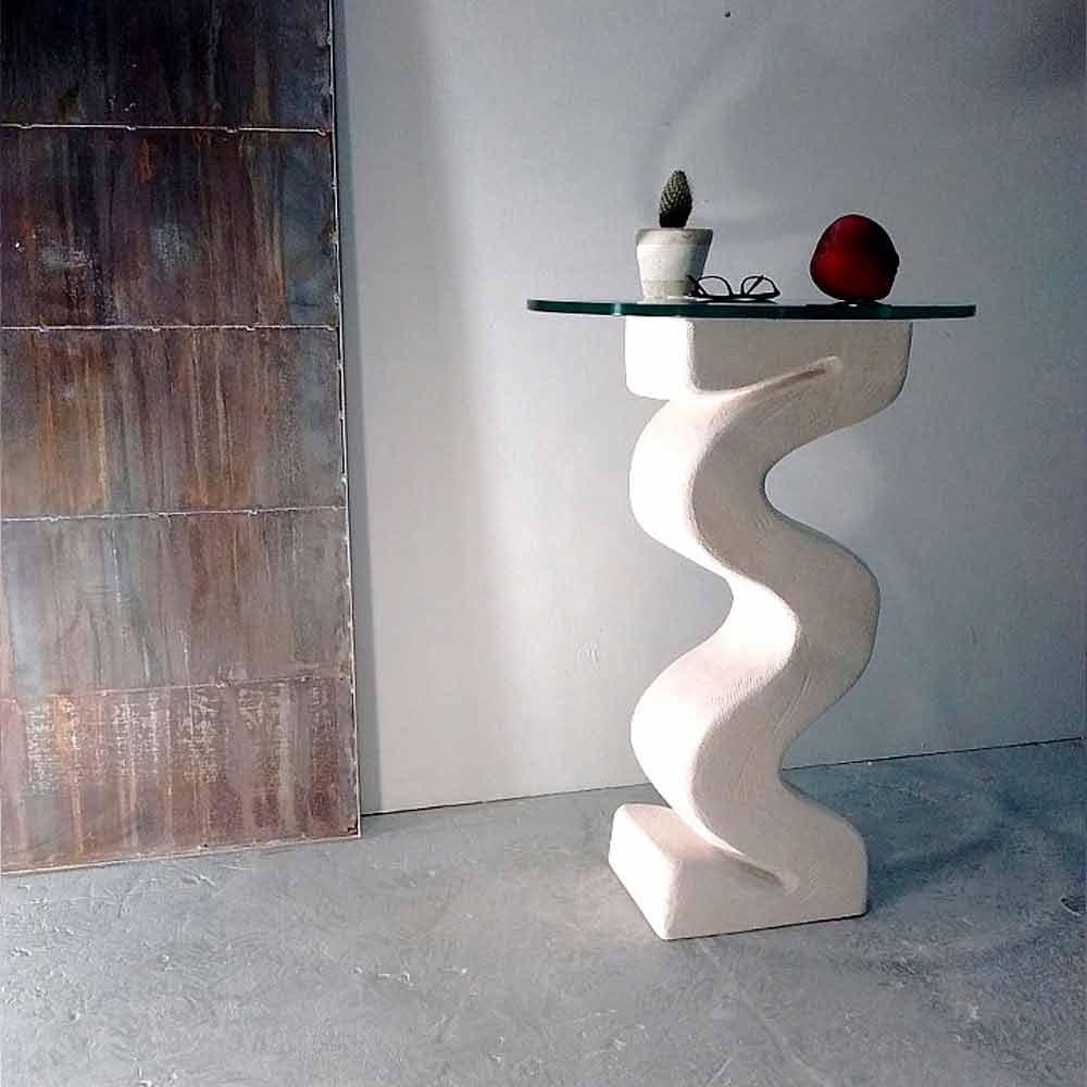 Schön Rundkonsolentisch Aus Stein Und Kristall Design Babylas