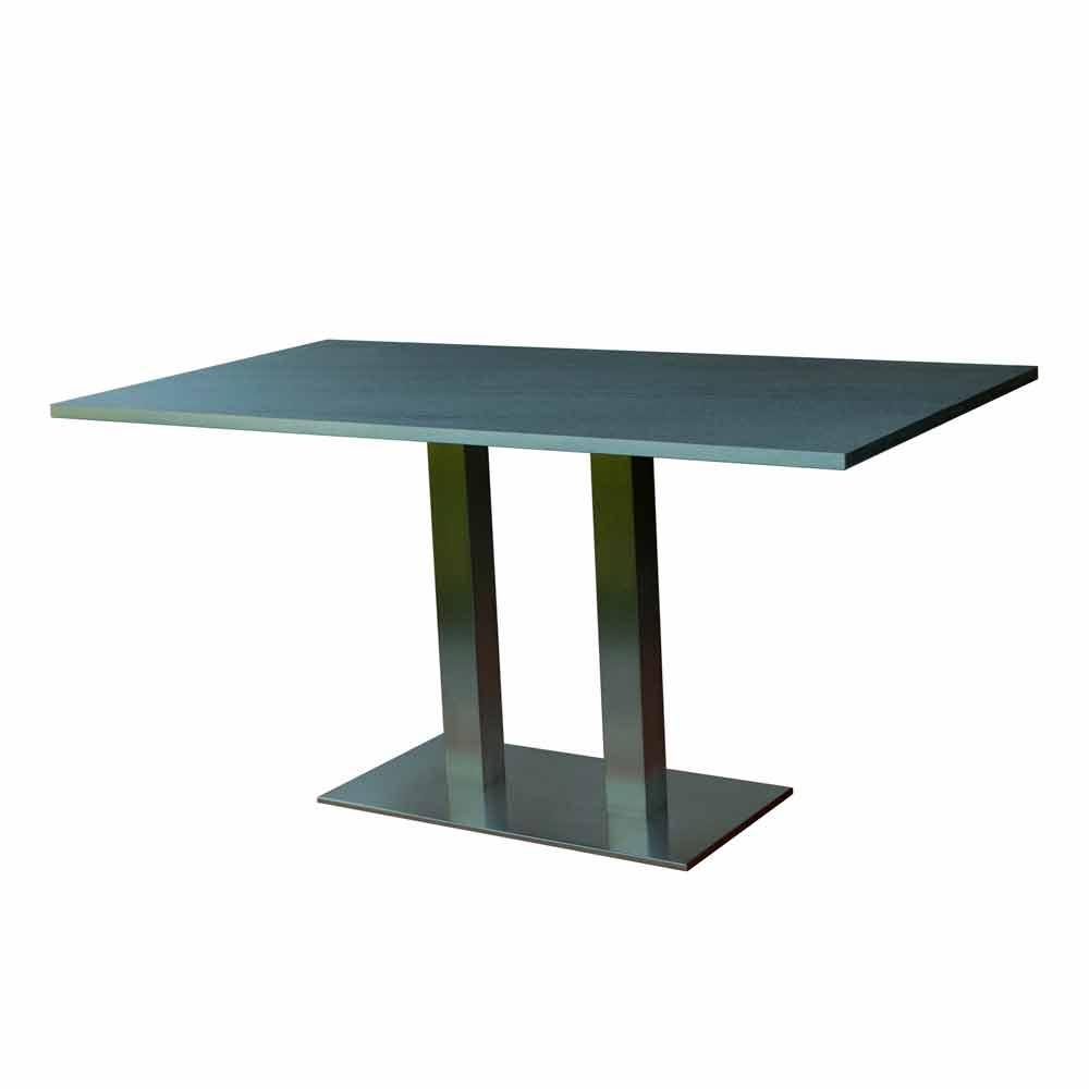 Design-Esstisch mit laminierter Steinplatte, 160x90cm, Newman