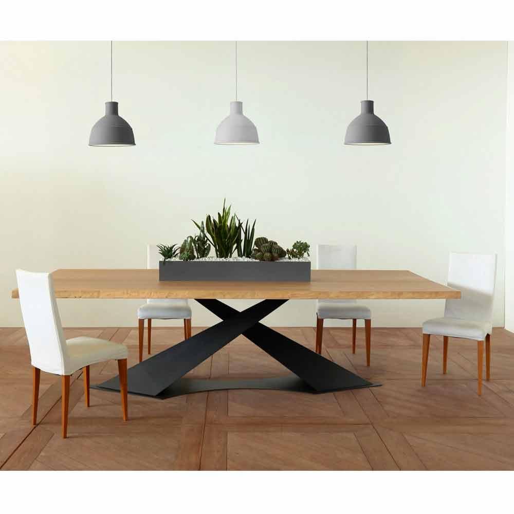 Esstisch im modernen design mit elliot tischplatte aus for Esstisch italian design