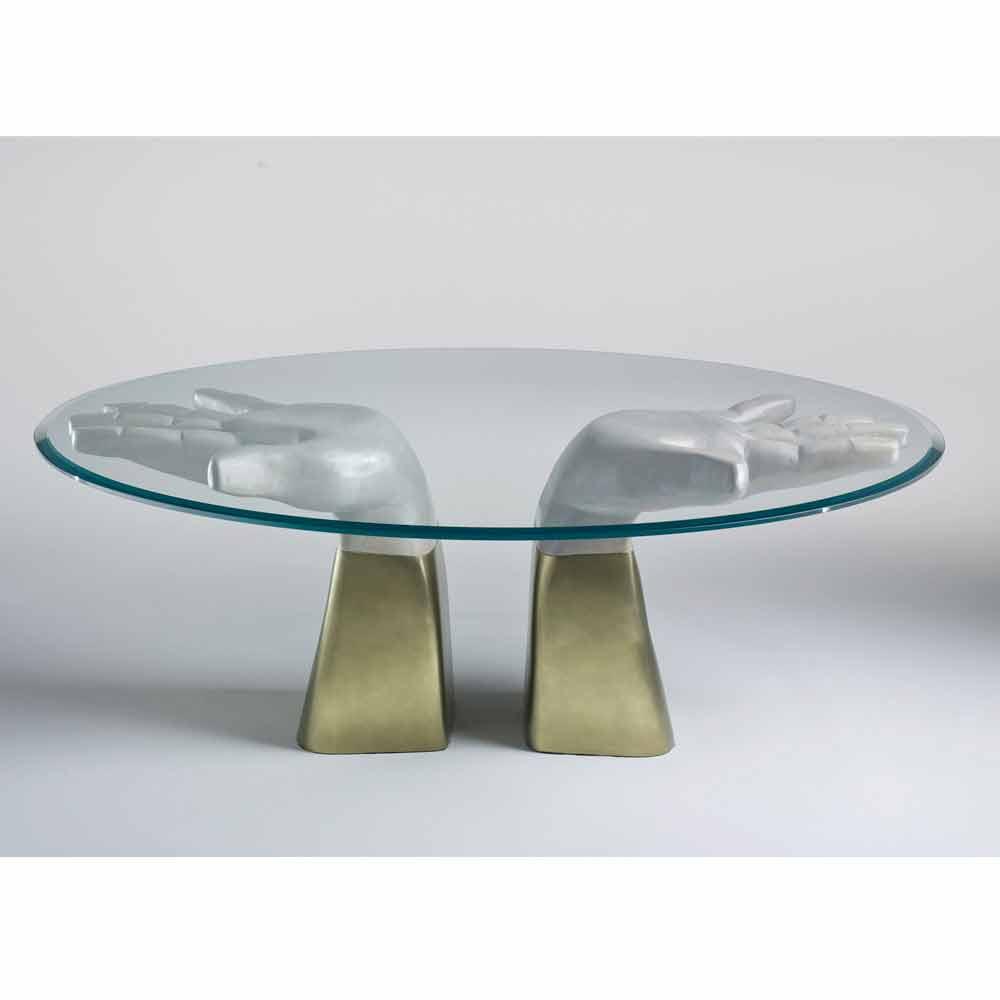 esstisch aus holz mit tischplatte aus glas made in italy bartolo. Black Bedroom Furniture Sets. Home Design Ideas