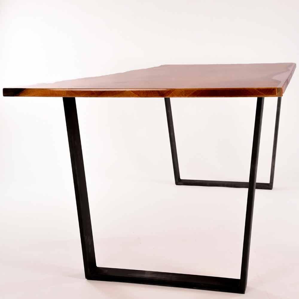 Rechteckiger esstisch aus holz design made in italy rino for Esstisch italian design