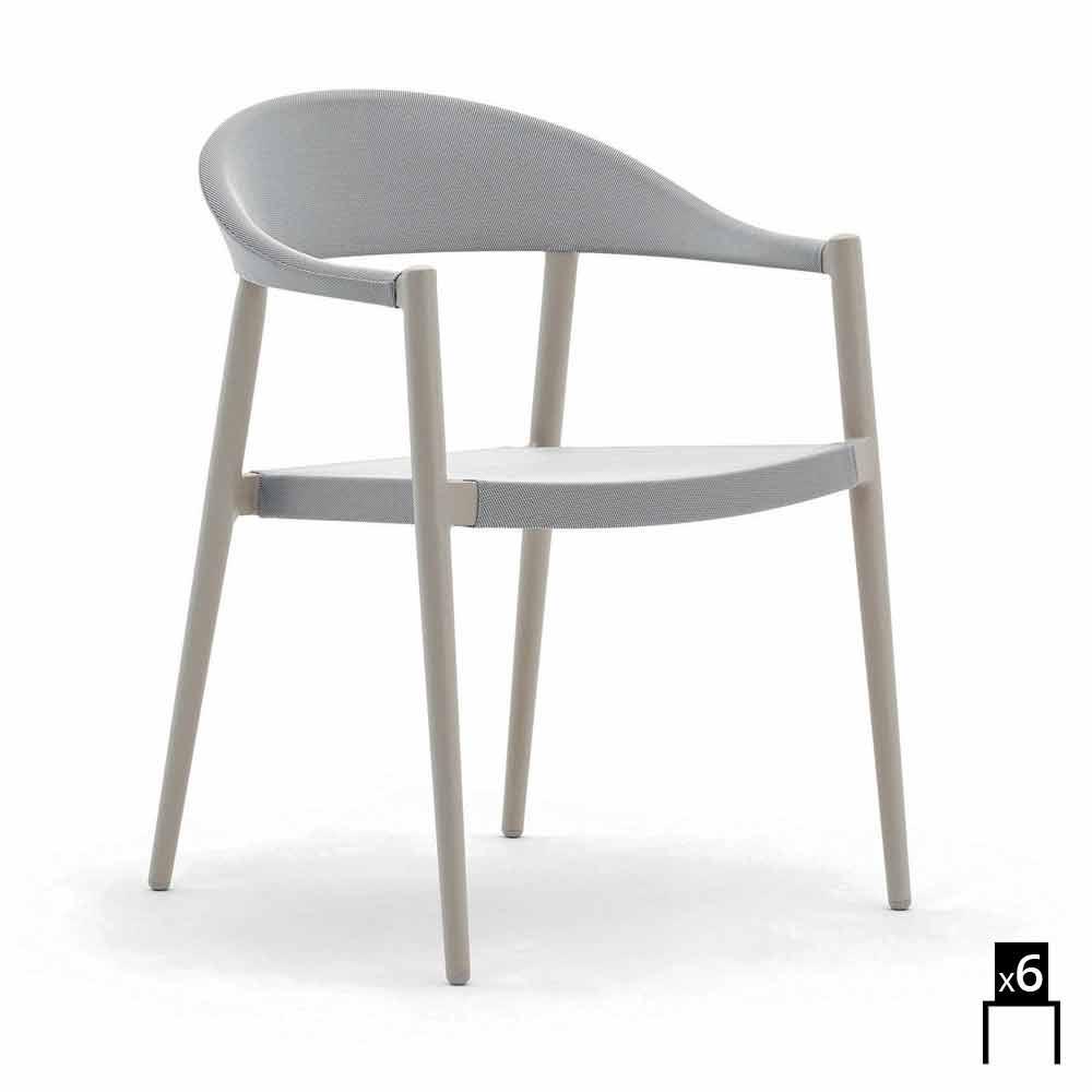 ... Varaschin Clever Stuhl Aus Modernem Design Garten, 6 Stück ...