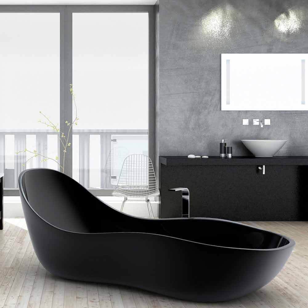 Freistehende badewanne in modernem design wave for Design badewanne
