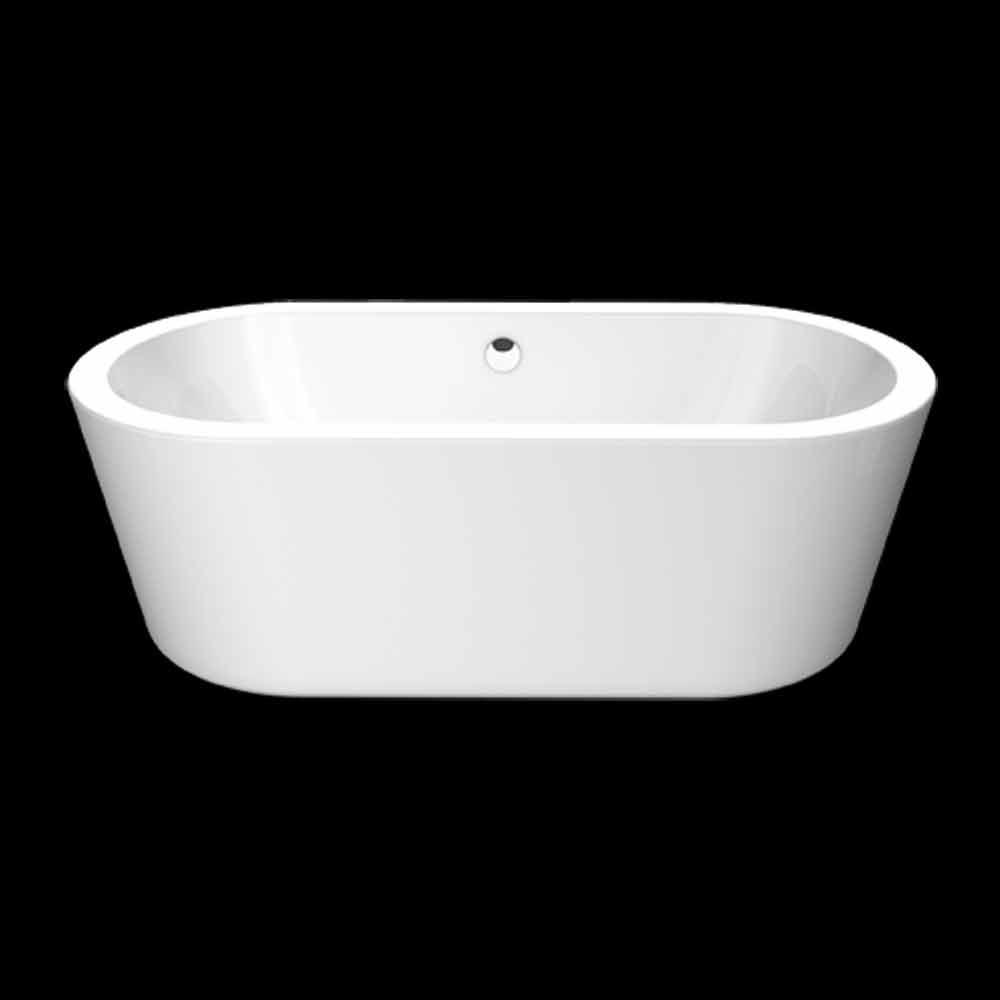 nicole kleine wei e acryl freistehende badewanne 1675x777 mm freistehende badewannen viadurini. Black Bedroom Furniture Sets. Home Design Ideas