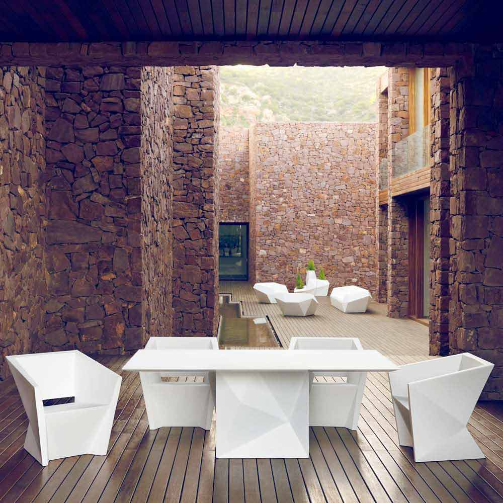Vondom faz gartentisch lackiertes wei l200xp100cm design - Gartentisch design ...