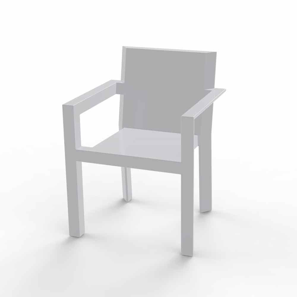 vondom frame gartenstuhl mit armlehnen aus harz von poly thylen. Black Bedroom Furniture Sets. Home Design Ideas