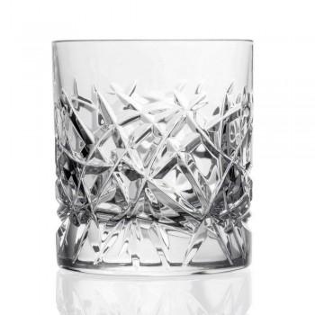 12 Dof Vintage Gläser für Wasser- oder Whisky-Design in Kristall - Titan