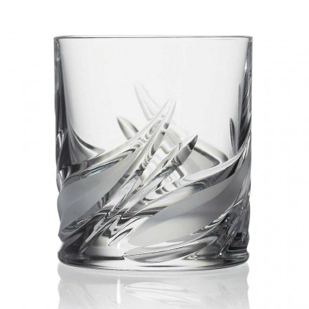 12 Double Old Fashioned Tumbler Whiskygläser mit niedrigem Kristallgehalt - Advent