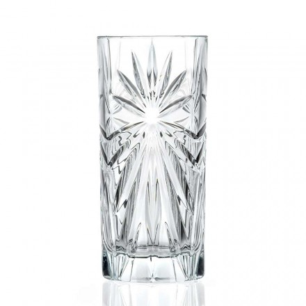 12 Highball Tumbler Hohe Cocktailgläser im Eco Crystal Design - Daniele
